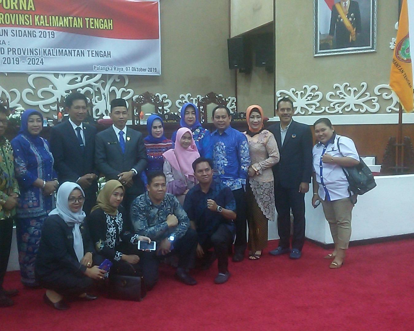 Empat Pimpinan DPRD Kalimantan Tengah Periode 2019-2024 Resmi Dilantik