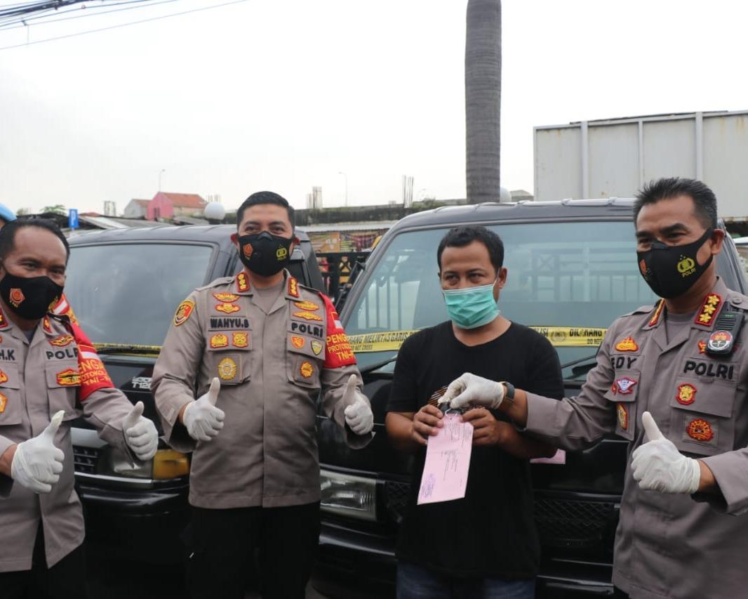 Tidak Sampai 24 Jam Polsek Balaraja Polresta Tangerang Ringkus Sindikat Pencurian Mobil Bak Terbuka
