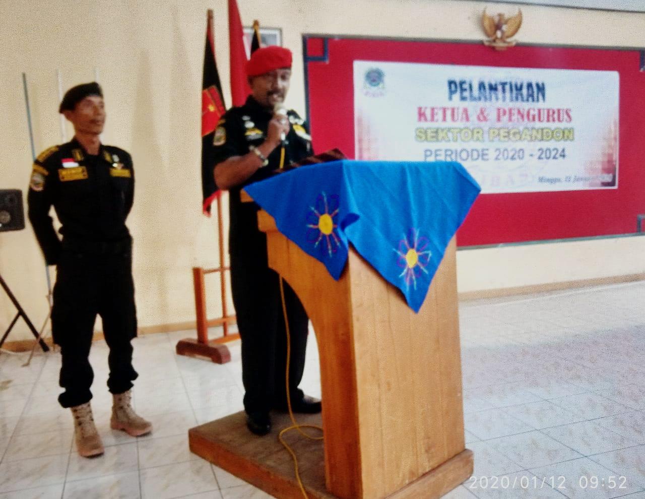 Ketua GIBAS Kendal Bersama Pengurus Melantik Ketua GIBAS Pegandon Periode 2020 - 2024