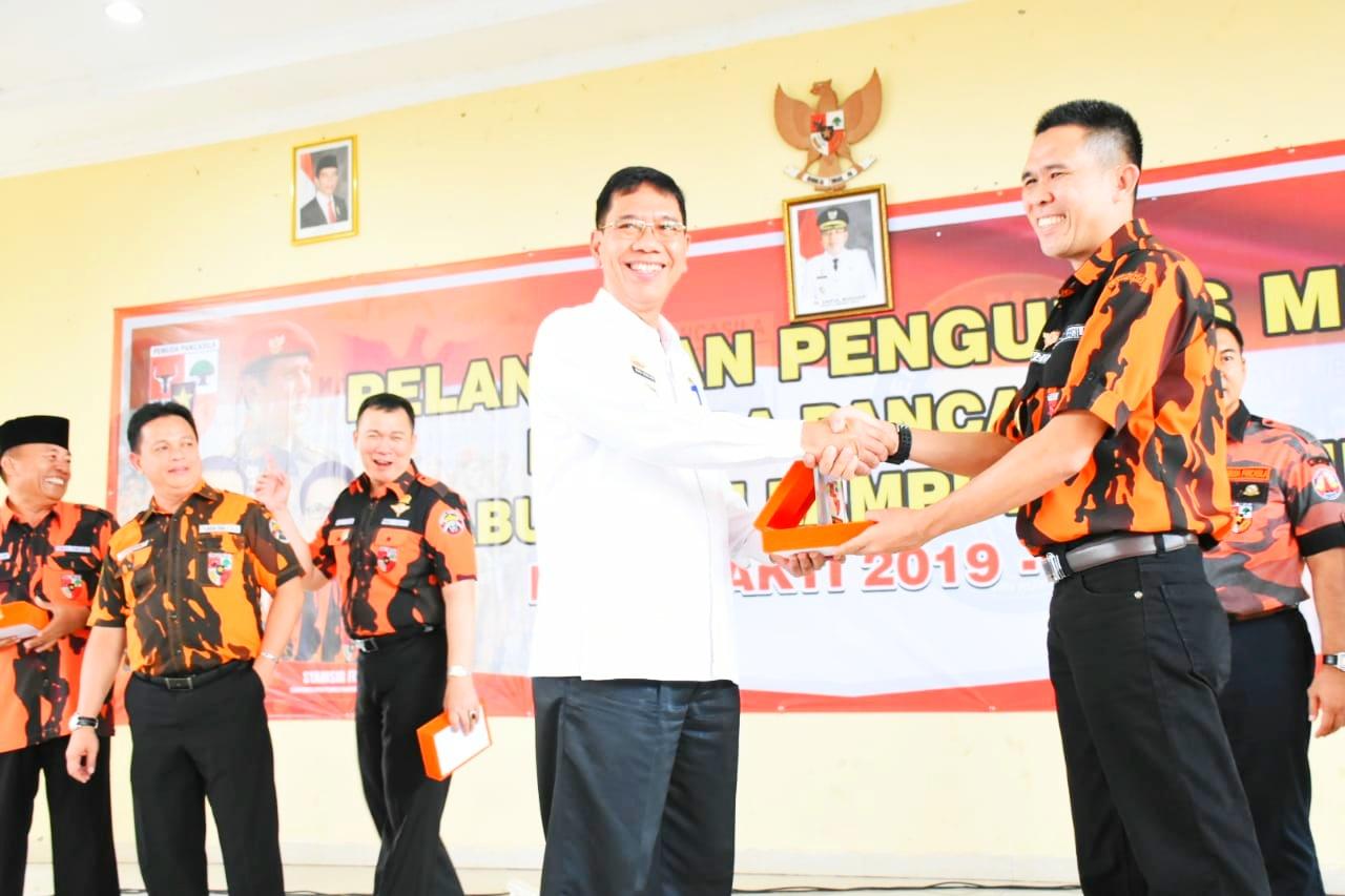 Sekda Hadiri Pelantikan MPC PP Lampung Timur