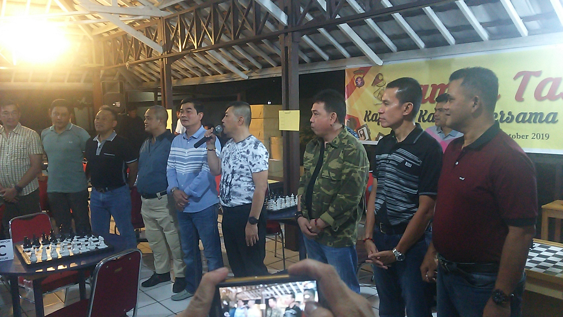 Lomba Catur dan Domino Warnai Ramah Tamah Kapolda Kalteng dengan Wartawan