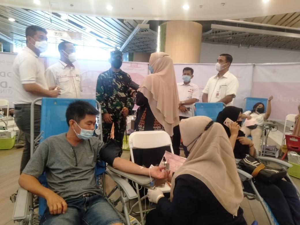 Peringati Hari Donor Darah Se Dunia, Dandim 0301/PBR Hadiri Acara Bhakti Sosial Donor Darah
