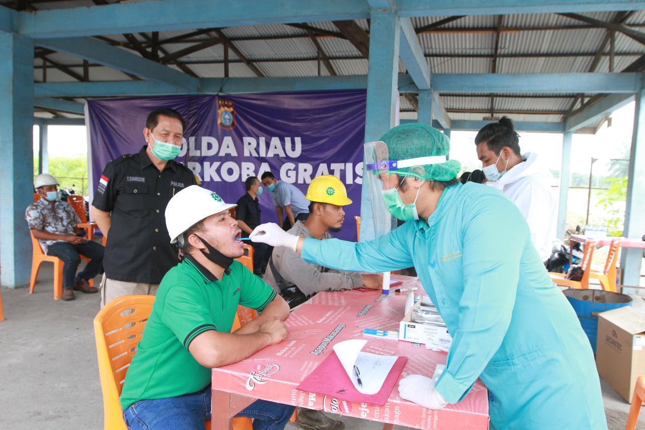 Gratis, Ditresnarkoba Polda Riau Gelar Kegiatan Test Narkoba DiLingkup Tenaga Kerja