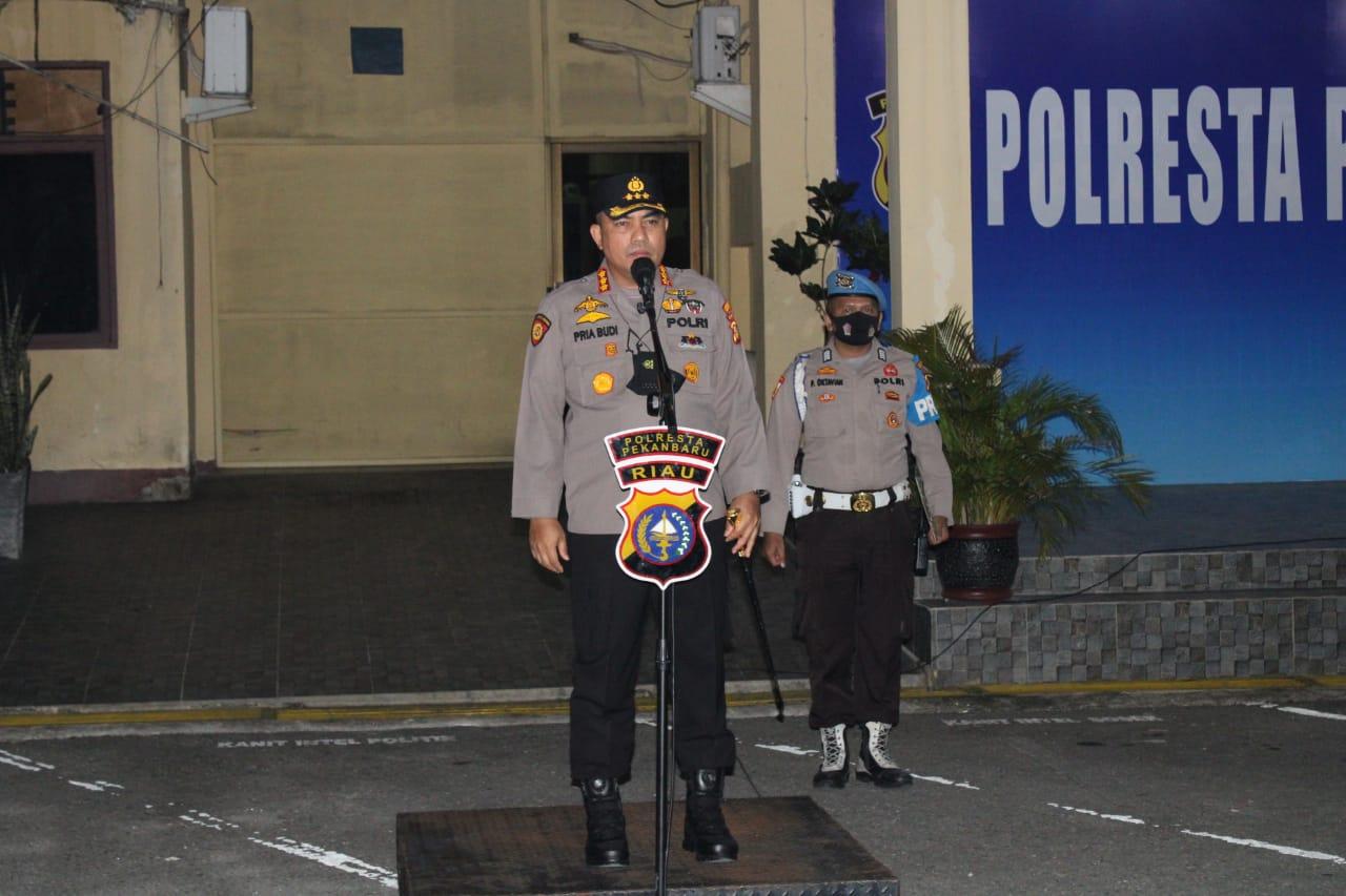 Polresta Pekanbaru Lakukan Patroli di Titik-Titik Rawan Kejahatan Jalanan dan Balap Liar