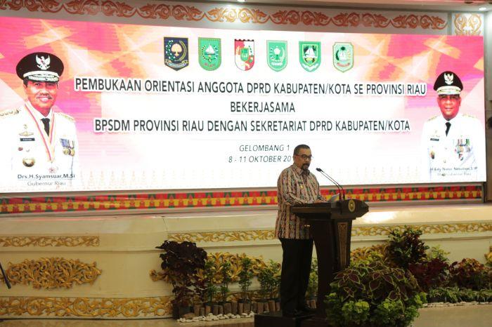 Sebanyak 480 Anggota DPRD Kabupaten/Kota Se Provinsi Riau Mengikuti Kegiatan Orientasi Pembekalan Tugas