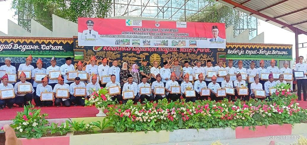 Dinas Kesehatan Kabupaten Mesuji Gelar Deklarasi ODF