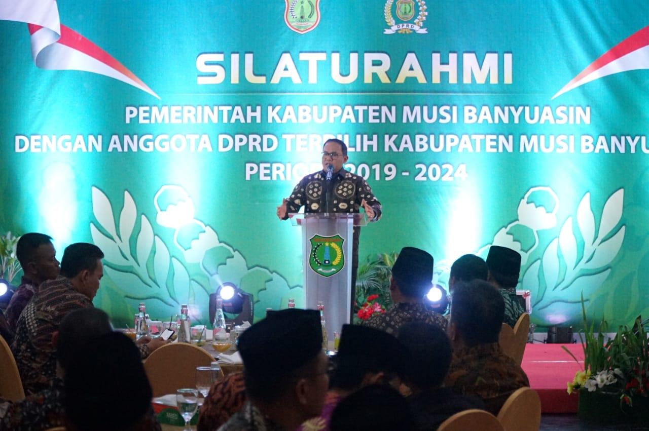 Dodi Reza Alex dan Forkopimda Silaturahmi Dengan Anggota DPRD Muba Terpilih