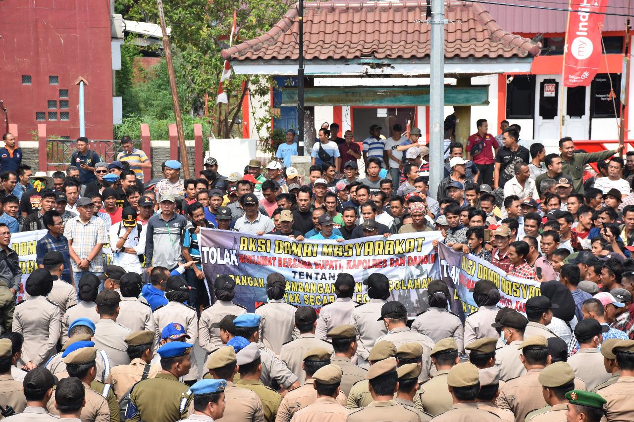 Polres Muba Kawal, Pendemo Penyulingan Minyak Ilegal Drilling