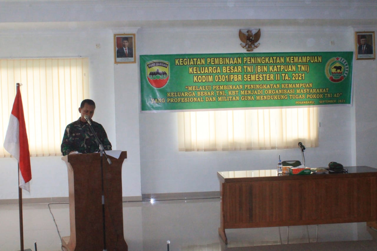 Wujud Soliditas Keluarga Besar TNI, Kodim 0301/PBR Gelar Pembinaan Keluarga Besar TNI