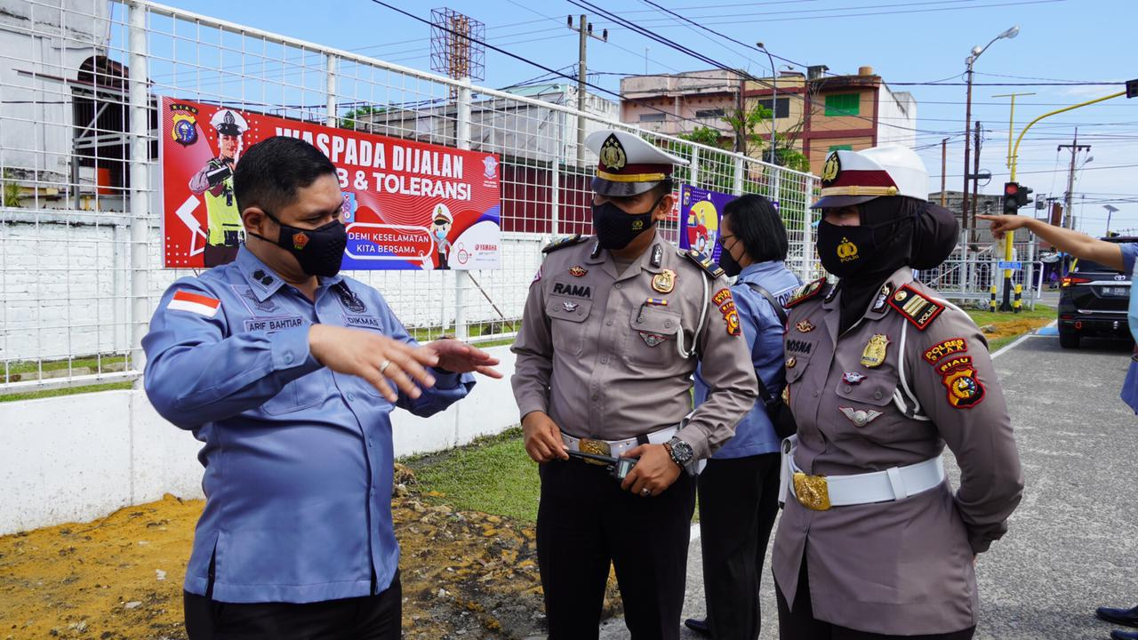 Jadi Kampung Tertib Lalu Lintas, Satlantas Polres Siak Dikunjungi Tim Korlantas Mabes Polri di Komplek Perumahan Persada Indah I Kelurahan Perawang