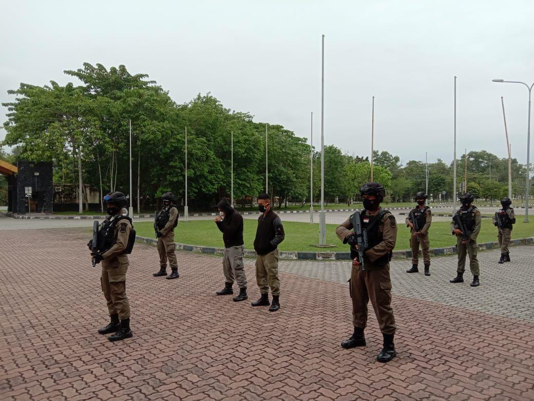 Personil Sat Brimob Polda Riau Laksanakan latihan Pam VIP/VVIP BKO Polda Papua