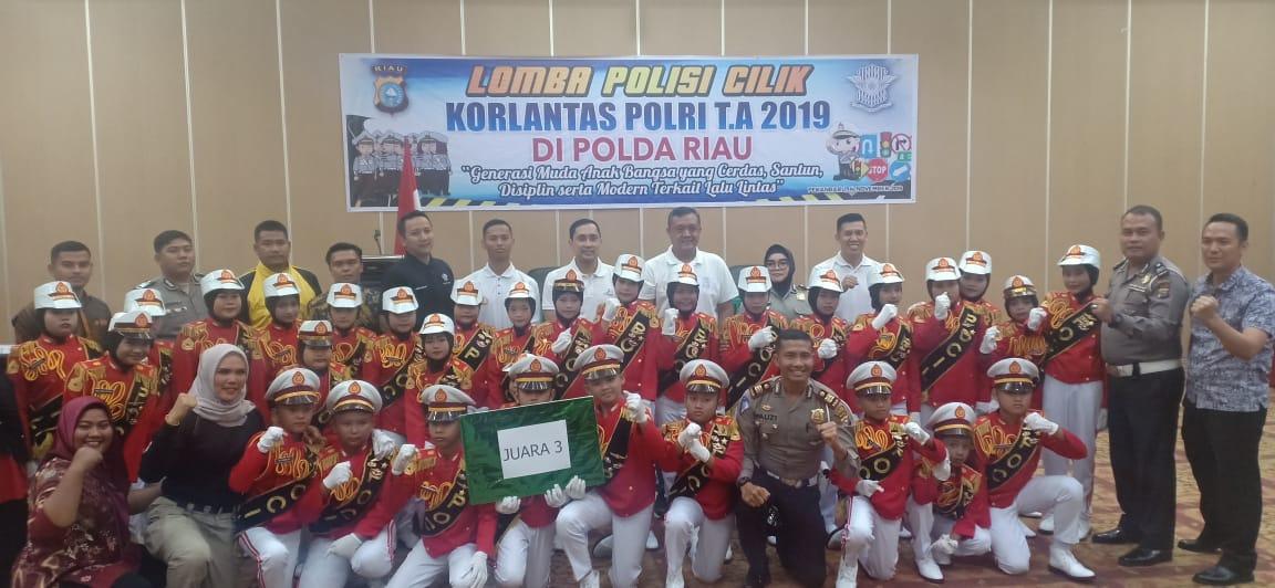 Tim Polisi Cilik Binaan Polres Kampar Meraih Juara III Pada Lomba Pocil Tingkat Polda Riau