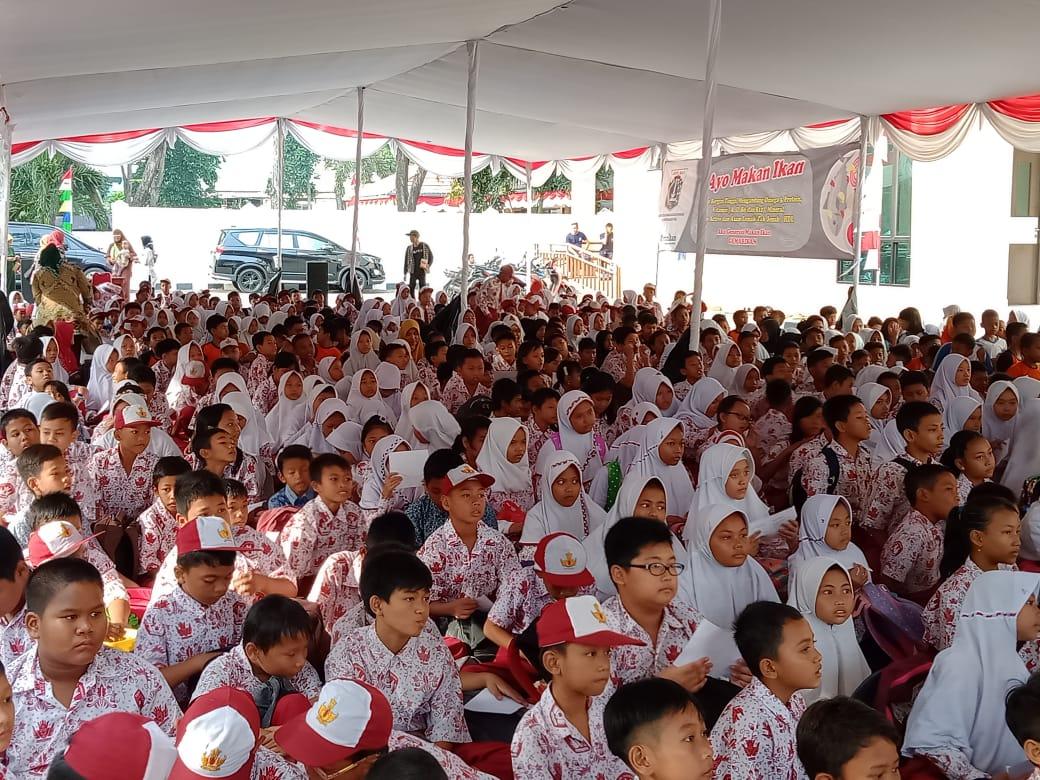 Ratusan Murid SD Ikuti Kampanye GEMARIKAN di GOR Pademangan