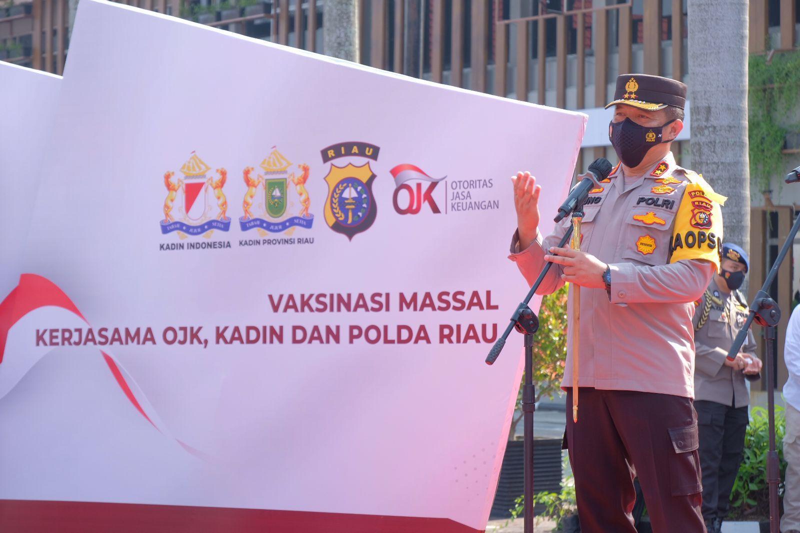 Gandeng Semua Pihak Termasuk Kadin, Polda Riau Targetkan Herd Immunity Segera Tercapai