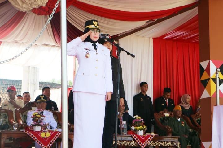 (Adv) Pemkab Tanggamus Laksanakan Upacara Peringatan Detik- Detik Proklamasi Kemerdekaan ke 74 RI