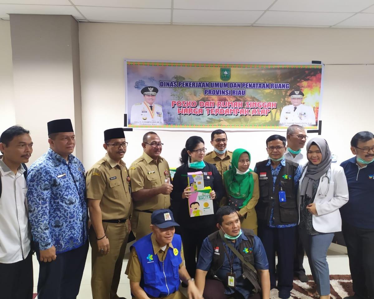 Menteri Kesehatan RI Mengunjungi Posko dan Rumah Singgah Dinas PUPR Riau