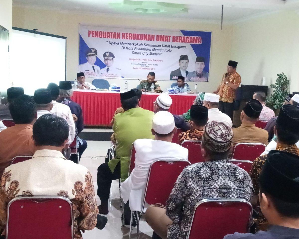 Dandim 0301/Pekanbaru Memberikan Paparan Dalam Acara Kegiatan Penguatan Kerukunan Umat Beragama