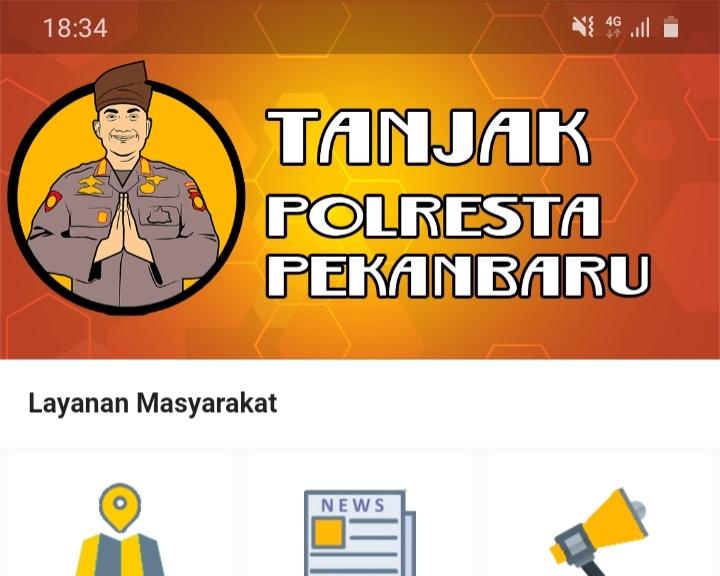 Kapolresta Launching Aplikasi Tanjak Polresta Pekanbaru
