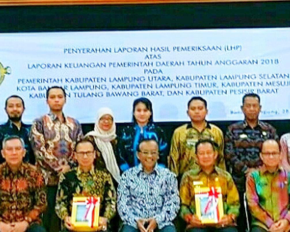 Wabup Tulang Bawang Barat Terima WTP dari BPK RI Perwakilan Lampung