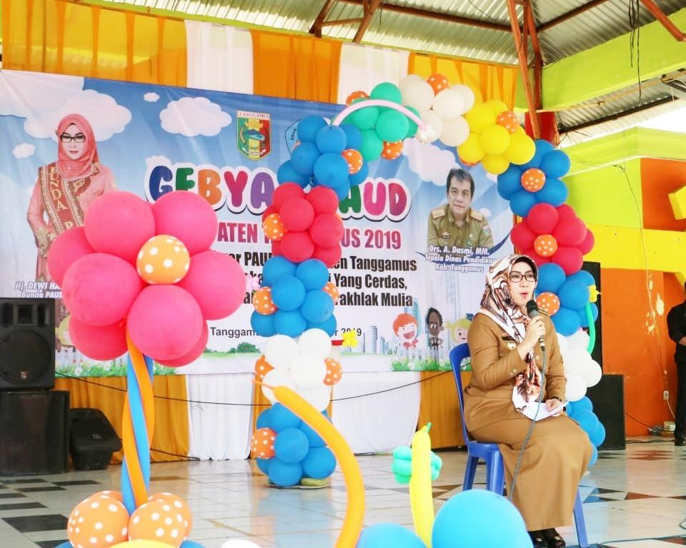 Buka Gebyar PAUD, Bupati Tanggamus, Harapannya Anak-anak jadi Tunas Bangsa yang Berprestasi