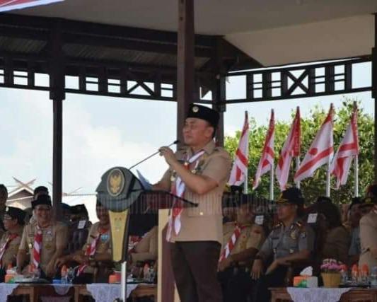 Gubernur Kalteng, beserta Wagub, Menghadiri Kemah Eksekutif, Legislatif, Yudikatif Berkah