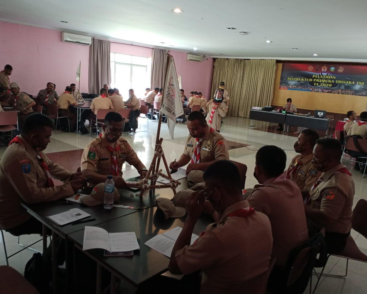 Binpotdirga Lanud RSN Ikuti Pelatihan Instruktur Pramuka
