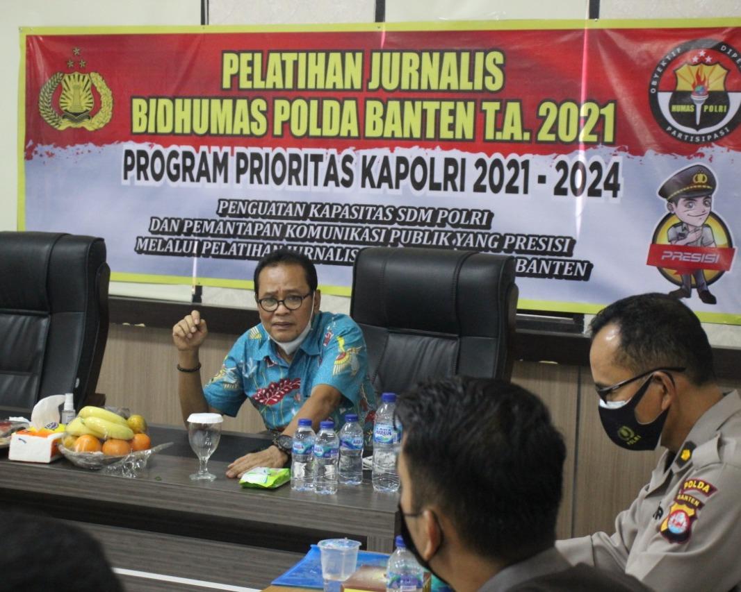 Polda Banten Selenggarakan Pelatihan Jurnalisme Kepolisian