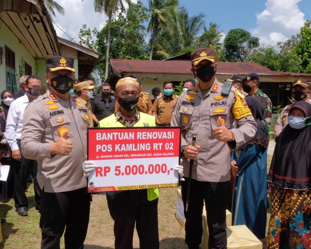 Kapolda Riau: Posko PPKM Wujud Negara Hadir di Tengah - tengah Masyarakat, Sebagai Ujung Tombak Penanganan Covid-19