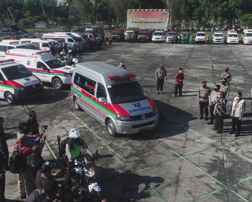 Satgas Covid-19 Provinsi Riau Kerahkan 60 Unit Ambulance Serta 220 Petugas, Jemput Pasien Isoman Agar Mendapat Perawatan Lebih Baik